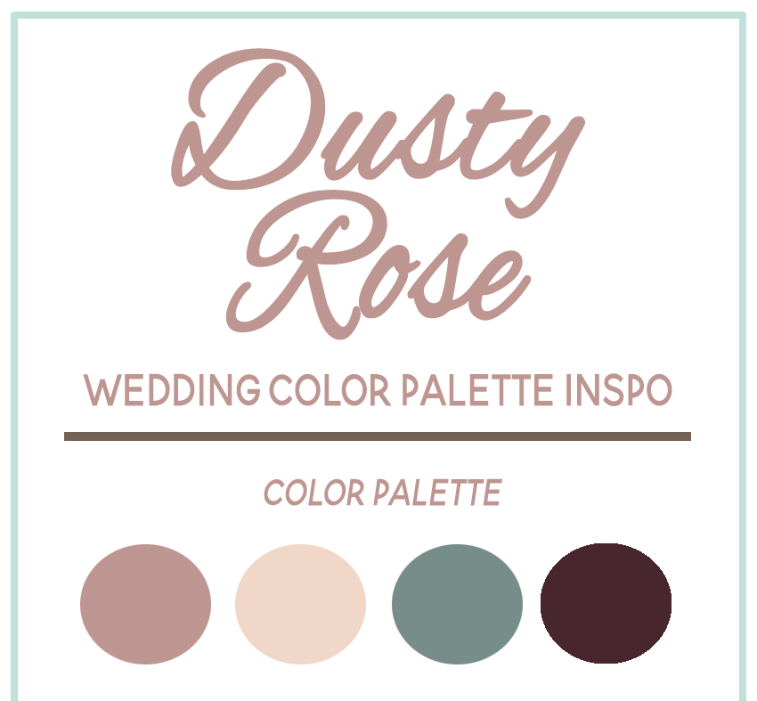 Dusty Rose Wedding Color Palette Inspiration Open Image